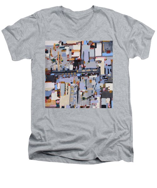 Gridlock Men's V-Neck T-Shirt