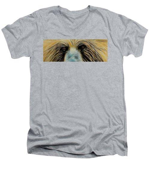 Grizzly Eyes Men's V-Neck T-Shirt
