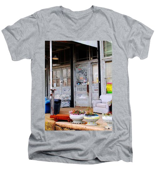 Ground Zero Clarksdale Mississippi Men's V-Neck T-Shirt by Lizi Beard-Ward
