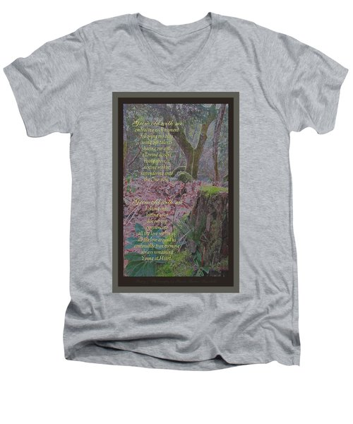 Men's V-Neck T-Shirt featuring the photograph Grow Old With Me by Brooks Garten Hauschild