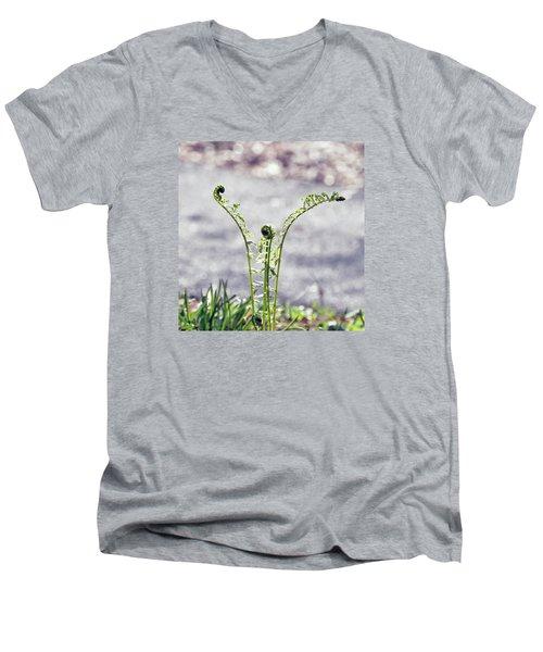 Growing  Men's V-Neck T-Shirt by Kerri Farley