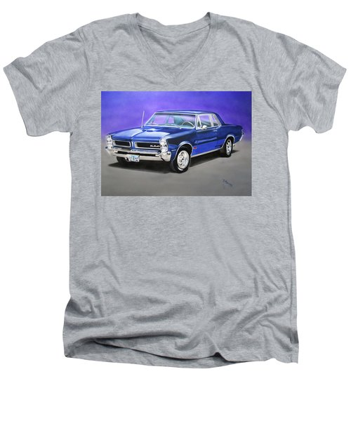 Men's V-Neck T-Shirt featuring the painting Gto 1965 by Thomas J Herring