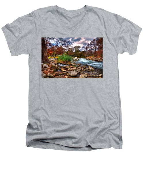 Guadalupe In The Fall Men's V-Neck T-Shirt by Savannah Gibbs