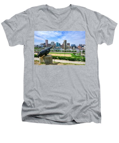Guarding Baltimore Men's V-Neck T-Shirt