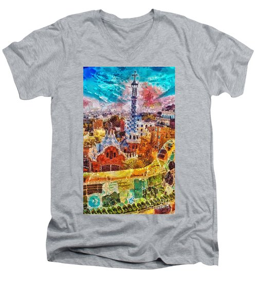 Guell Park Men's V-Neck T-Shirt