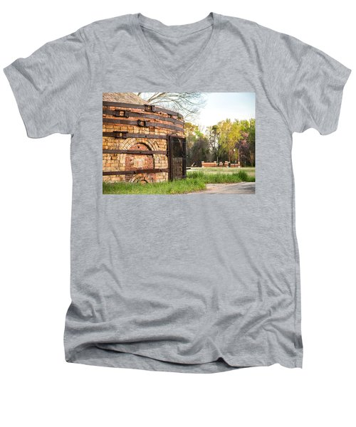 Guignard Brick Works-1 Men's V-Neck T-Shirt