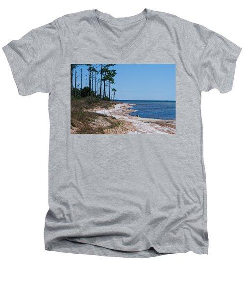 Gulf Island National Seashore 2 Men's V-Neck T-Shirt