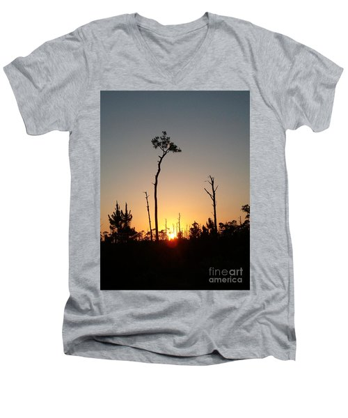 Gulf Shores Sunset Men's V-Neck T-Shirt