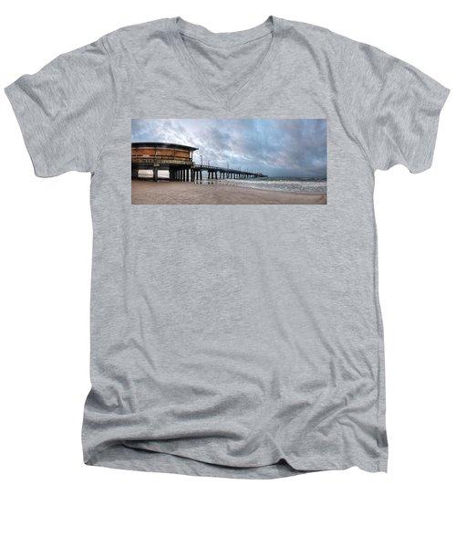 Gulf State Pier Men's V-Neck T-Shirt by Michael Thomas