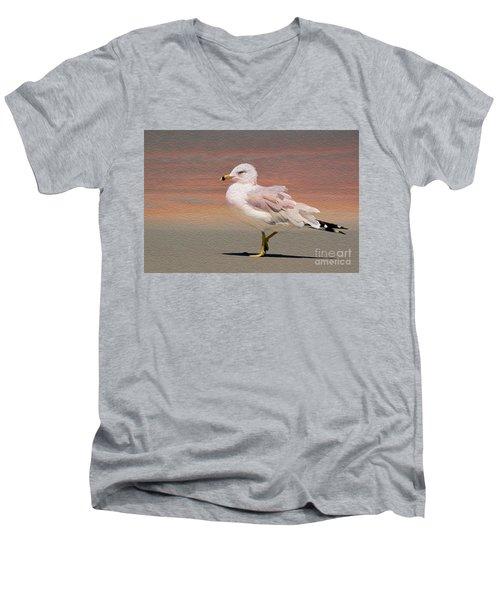 Gull Onthe Beach Men's V-Neck T-Shirt