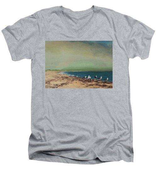 Gulls On The Seashore Men's V-Neck T-Shirt