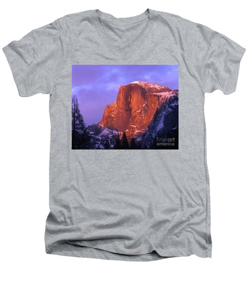 Half Dome Alpen Glow Men's V-Neck T-Shirt