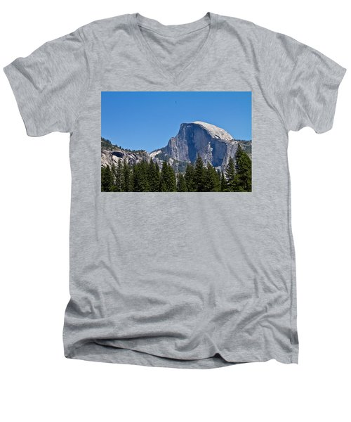 Men's V-Neck T-Shirt featuring the photograph Half Dome by Brian Williamson