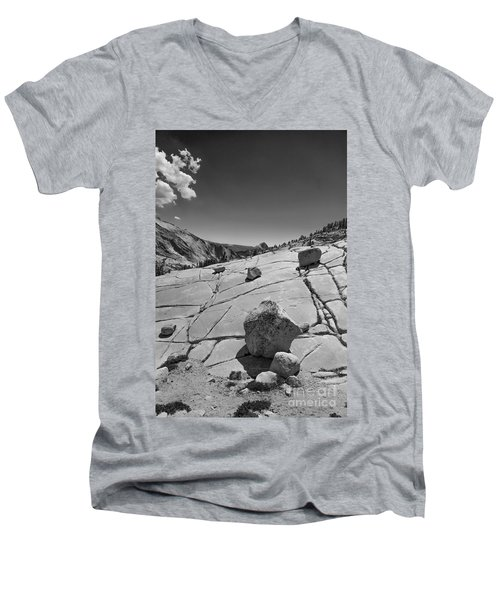 Half Dome From Olmsted Point Men's V-Neck T-Shirt