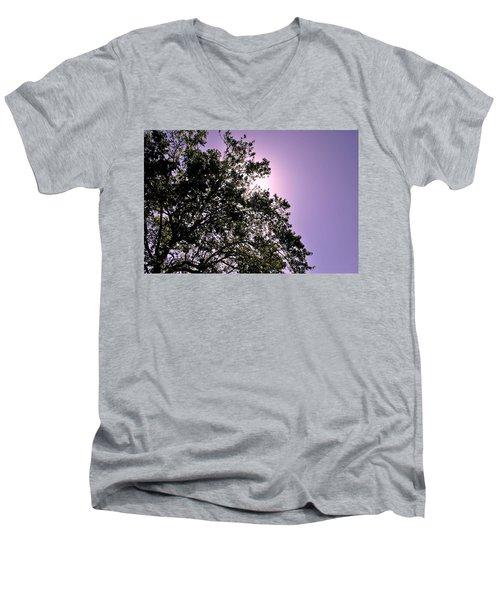 Men's V-Neck T-Shirt featuring the photograph Half Tree by Matt Harang