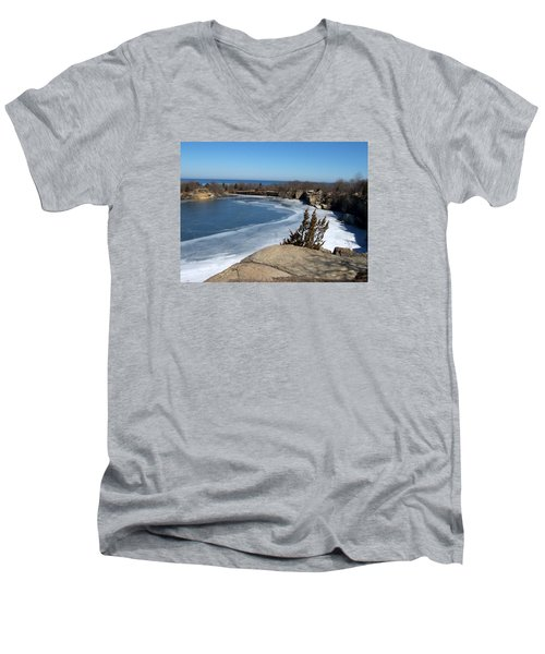 Icy Quarry Men's V-Neck T-Shirt by Catherine Gagne