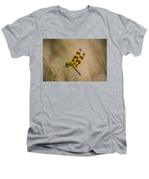 Halloween Pennant Dragonfly Men's V-Neck T-Shirt