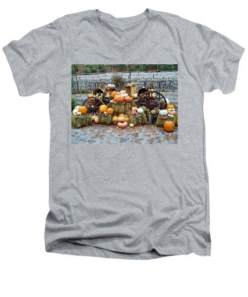 Halloween Pumpkins Men's V-Neck T-Shirt
