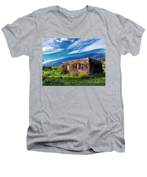 Men's V-Neck T-Shirt featuring the photograph Hana Church 6 by Dawn Eshelman