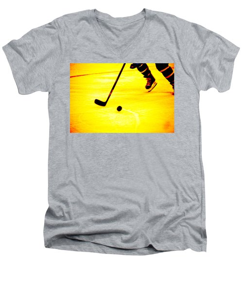 Handling It Men's V-Neck T-Shirt by Karol Livote