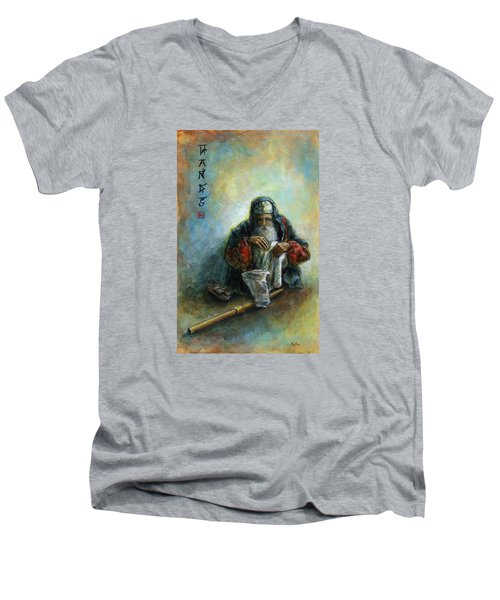 Hands Men's V-Neck T-Shirt by Retta Stephenson