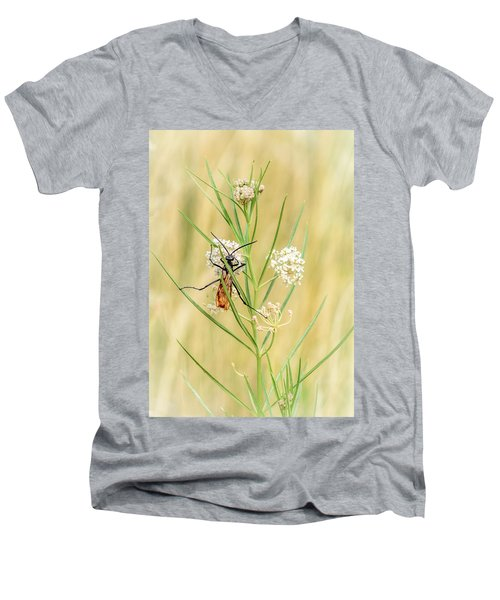 Hanging On Men's V-Neck T-Shirt by Debra Martz
