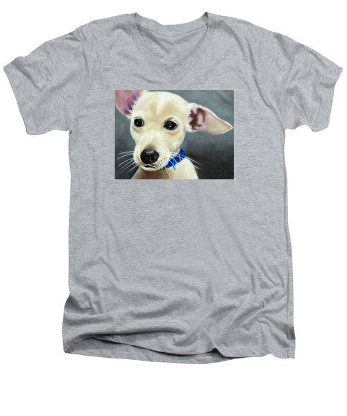 Hank Men's V-Neck T-Shirt by Jeanne Fischer