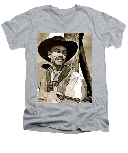 Hank Worden Publicity Photo Red River 1948-2013 Men's V-Neck T-Shirt by David Lee Guss