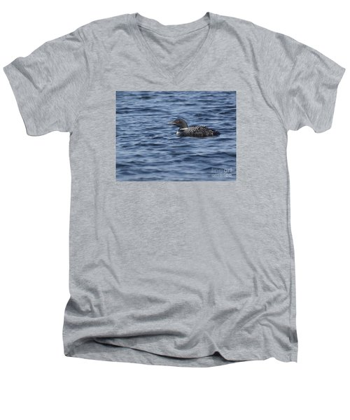 Happy As A Loon Men's V-Neck T-Shirt