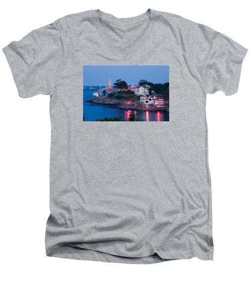 Marblehead Harbor Illumination Men's V-Neck T-Shirt