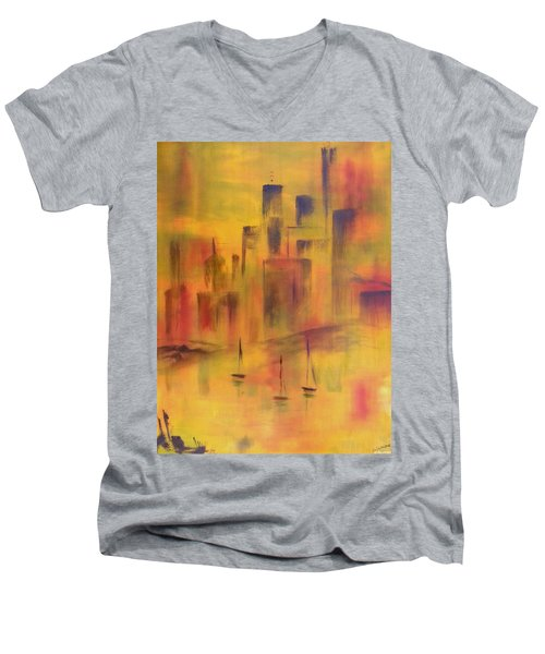 Harbor Sail Men's V-Neck T-Shirt