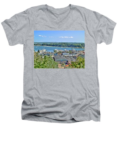 Harbor Springs Michigan Men's V-Neck T-Shirt
