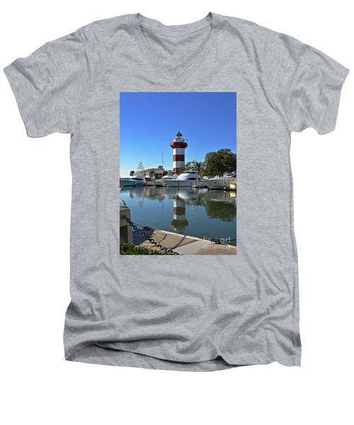 Harbor Town Lighthouse Men's V-Neck T-Shirt