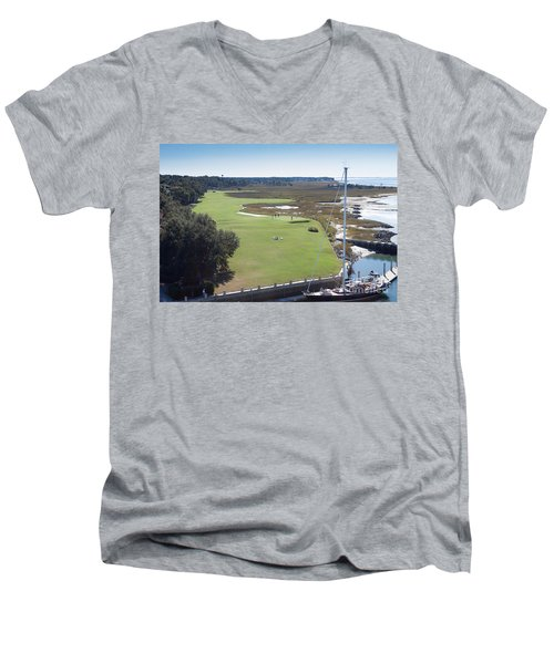 Harbourtown Golf Course 18th Hole Men's V-Neck T-Shirt