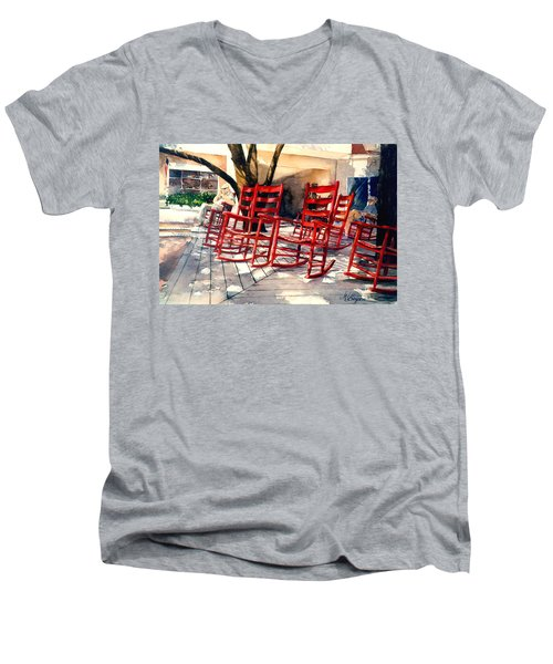 Harbourtown Rockers Men's V-Neck T-Shirt
