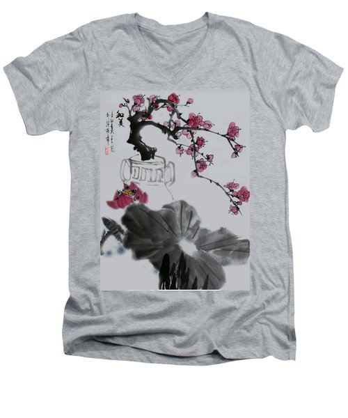 Men's V-Neck T-Shirt featuring the photograph Harmony And Beauty by Yufeng Wang