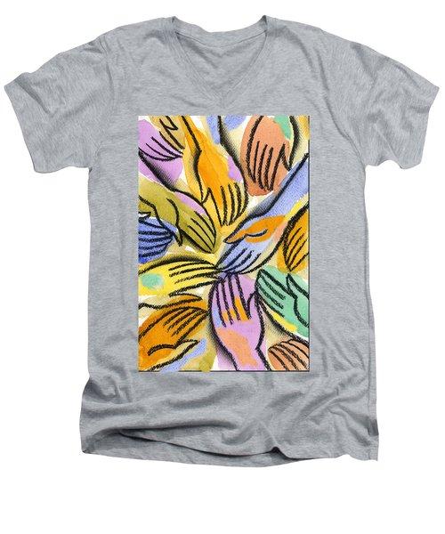 Multi-ethnic Harmony Men's V-Neck T-Shirt