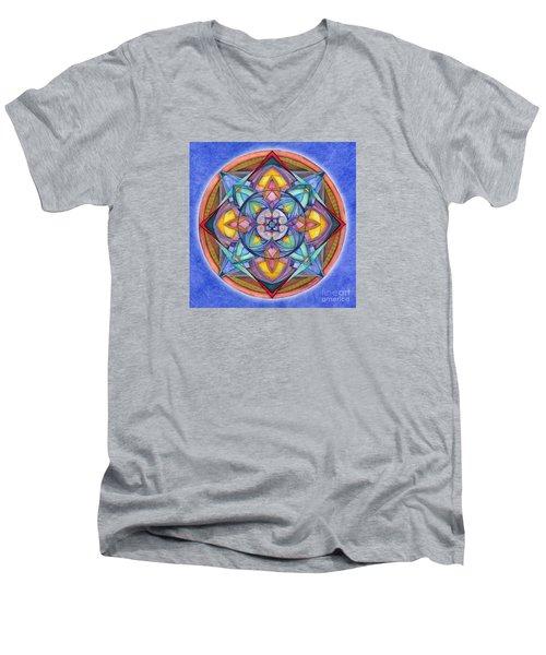 Harmony Mandala Men's V-Neck T-Shirt