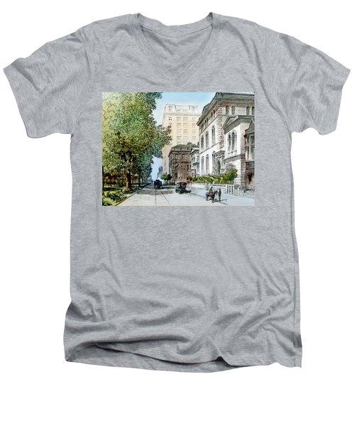 Harrison Residence East Rittenhouse Square Philadelphia C 1890 Men's V-Neck T-Shirt