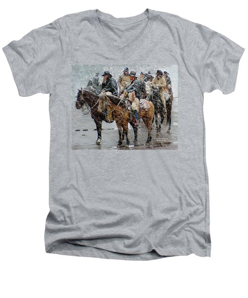 Hashknife Pony Express Men's V-Neck T-Shirt