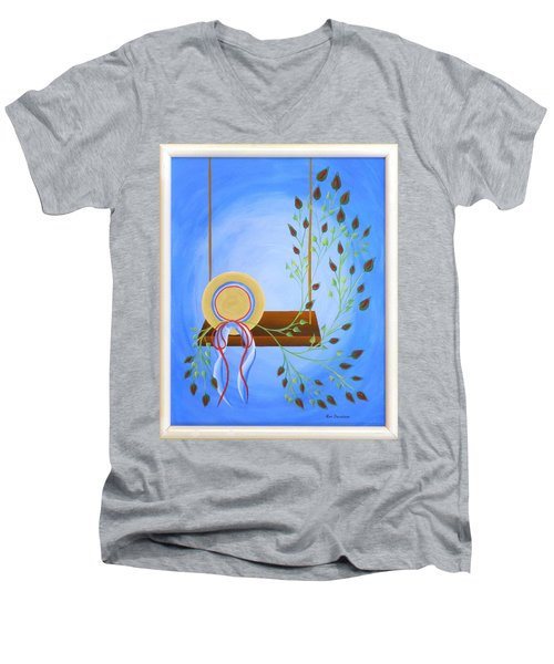 Hat On A Swing Men's V-Neck T-Shirt