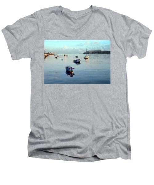 Havana Maritime 2 Men's V-Neck T-Shirt by Steven Richman