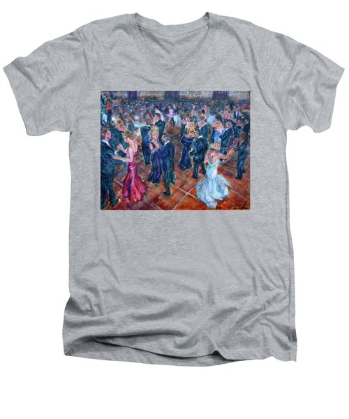 Having A Ball - Dancers Men's V-Neck T-Shirt
