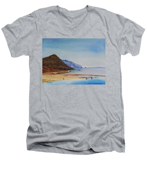 Hawaii Men's V-Neck T-Shirt by Christine Lathrop