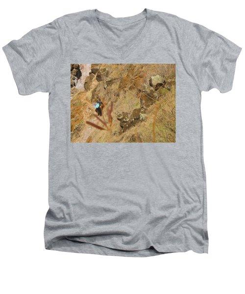 Hawaiian Commute Men's V-Neck T-Shirt