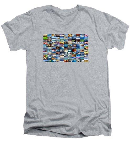 One Hawaiian Mixed Plate Men's V-Neck T-Shirt