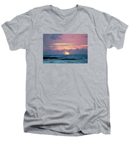 Hawaiian Ocean Sunrise Men's V-Neck T-Shirt