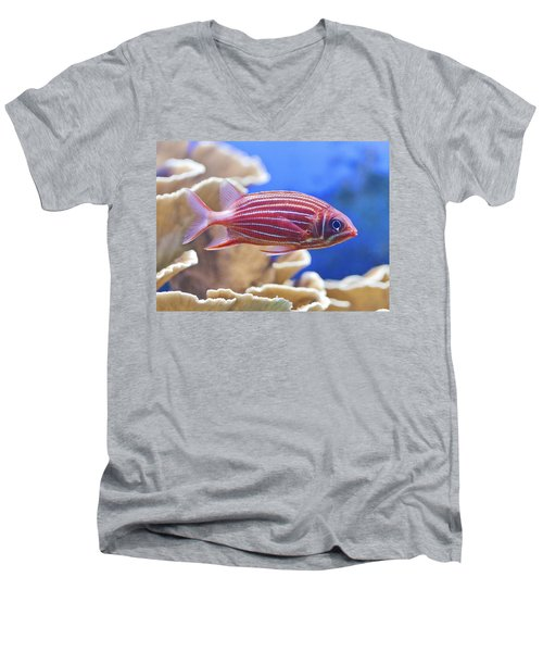Hawaiian Squirrelfish Men's V-Neck T-Shirt by Maj Seda