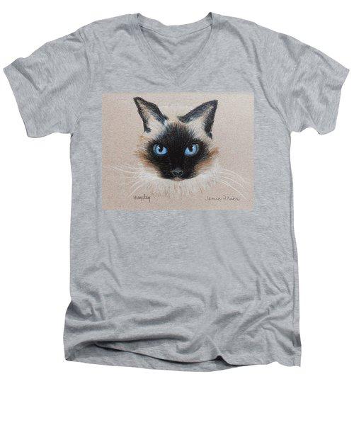 Hayley Men's V-Neck T-Shirt by Jamie Frier