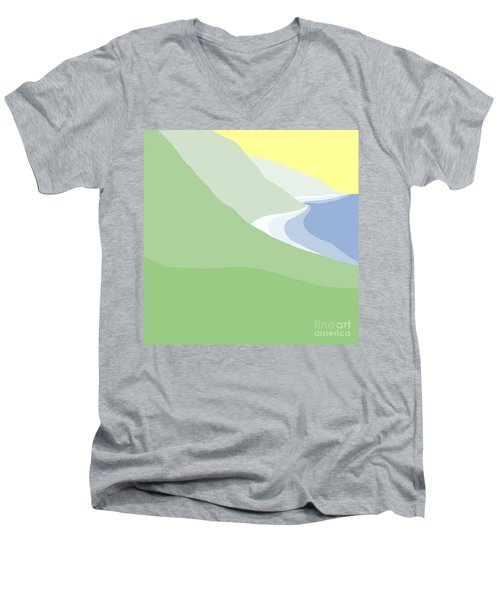 Hazy Coastline Men's V-Neck T-Shirt